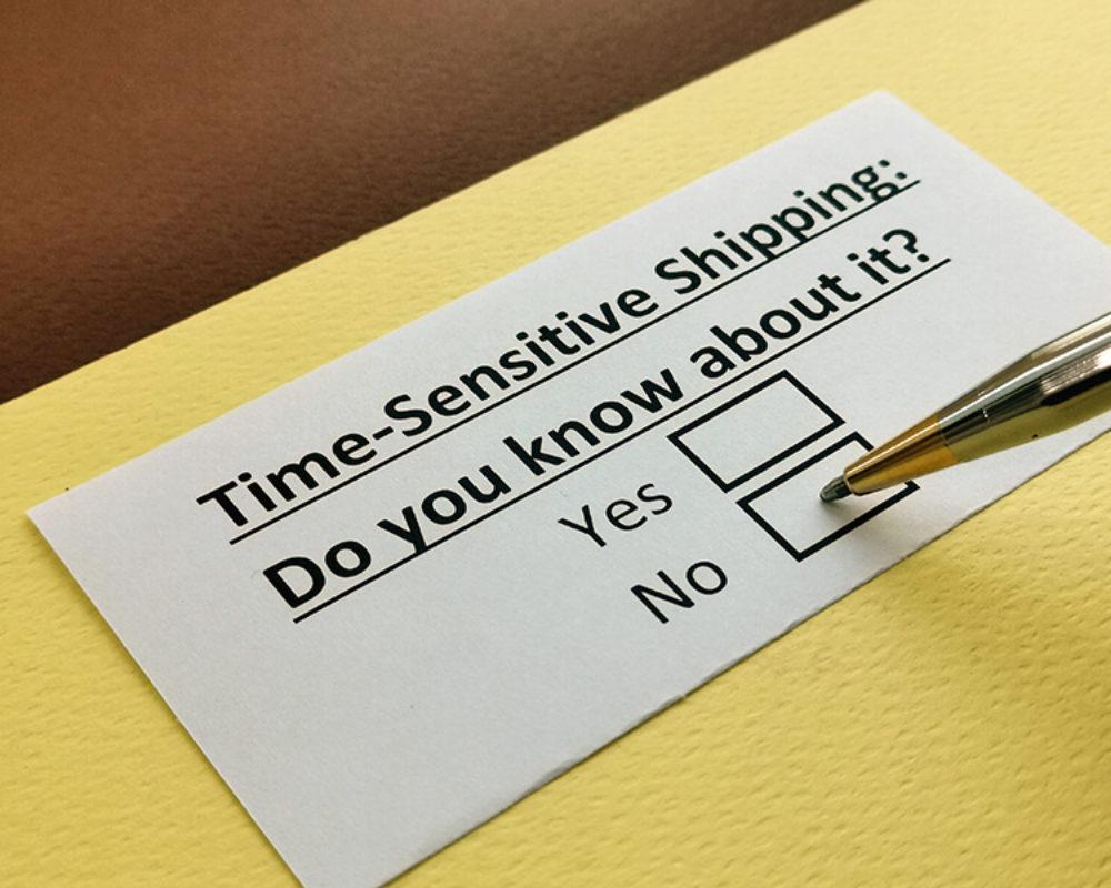 time sensitive shipments